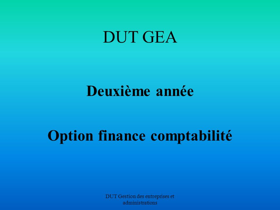 Option finance comptabilité