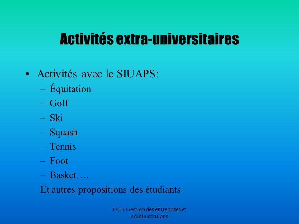 Activités extra-universitaires