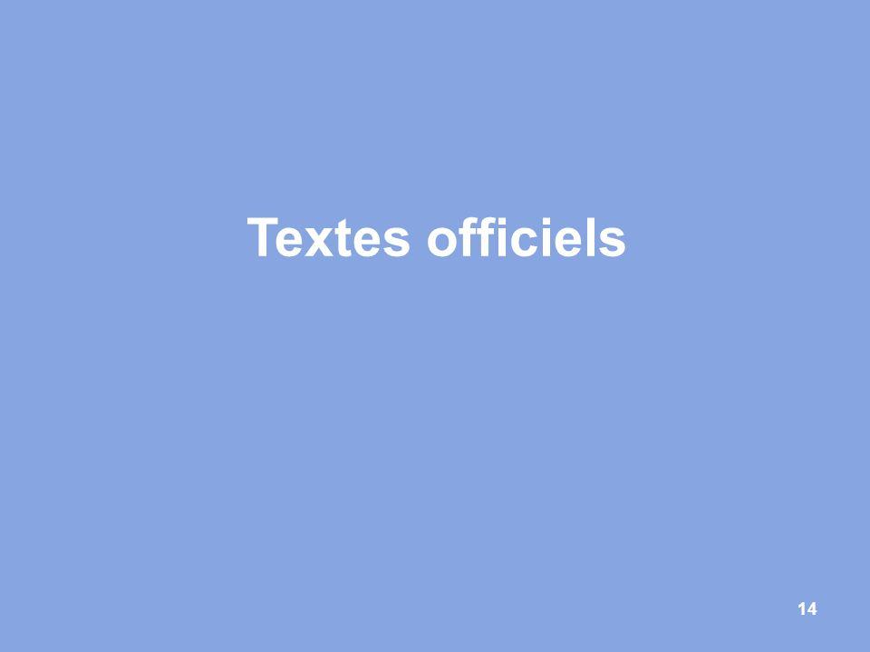 Textes officiels 14