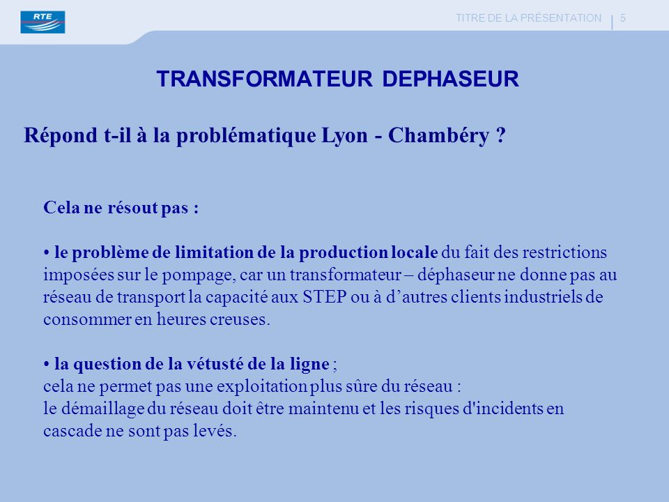 TRANSFORMATEUR DEPHASEUR