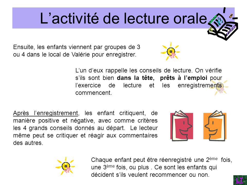 L'activité de lecture orale