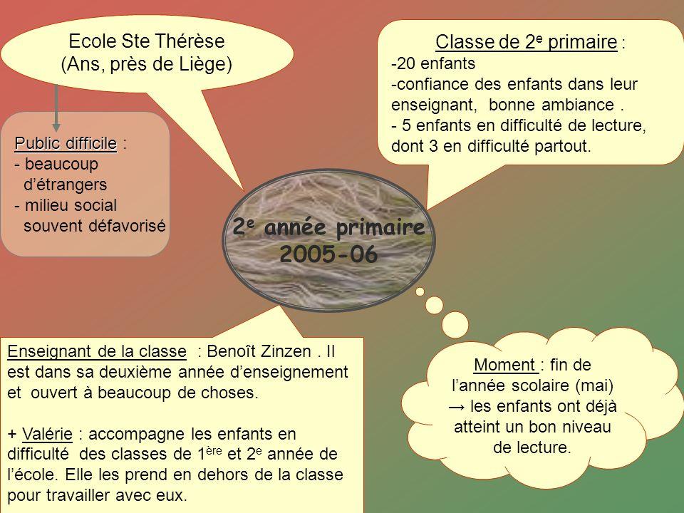 2e année primaire 2005-06 Ecole Ste Thérèse (Ans, près de Liège)