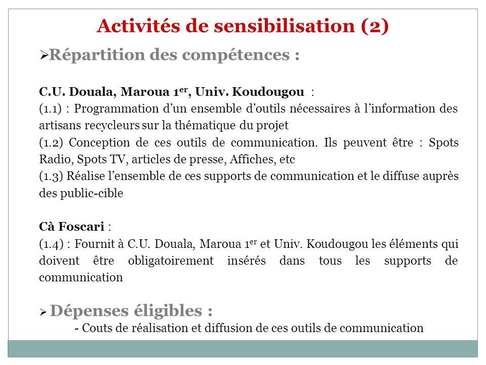 Activités de sensibilisation (2)