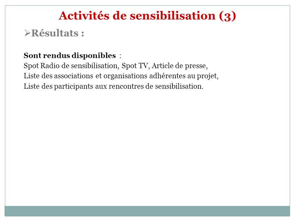 Activités de sensibilisation (3)