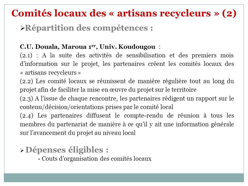 Comités locaux des « artisans recycleurs » (2)