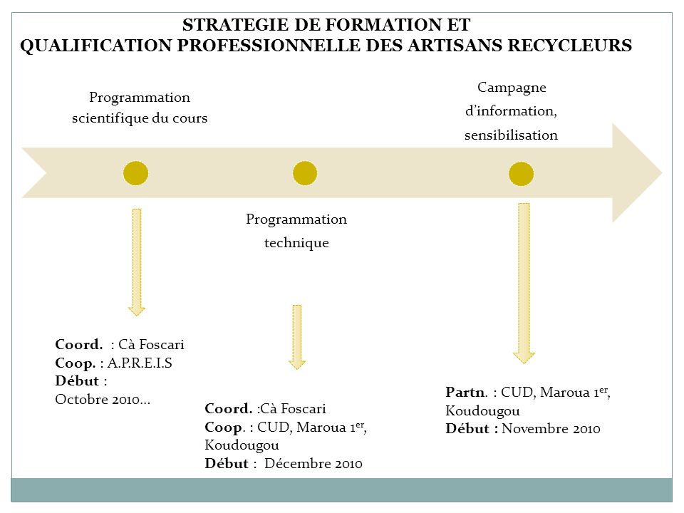 STRATEGIE DE FORMATION ET