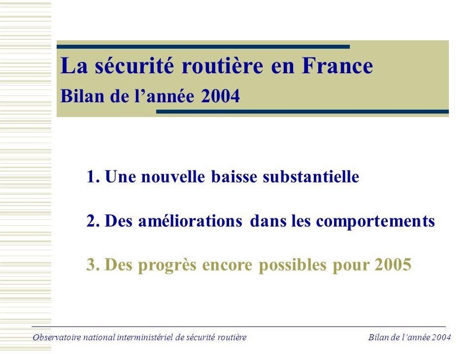 Des progrès encore possibles pour 2005 si l'on se compare aux autres pays européens Tués à 30 jours par million d'habitants en 2003