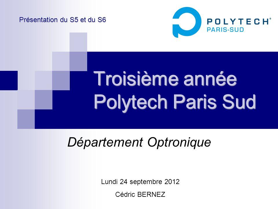Troisième année Polytech Paris Sud