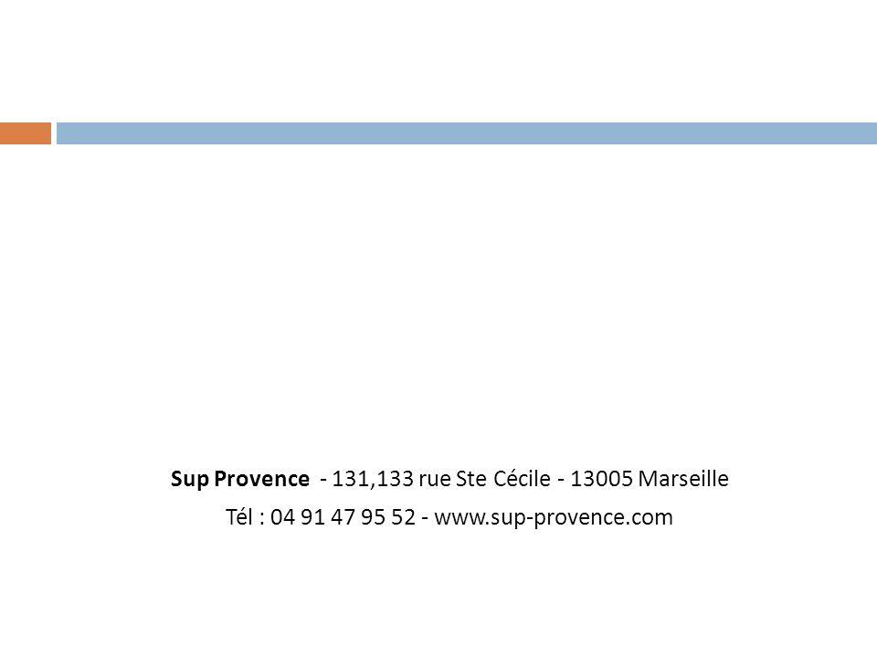Sup Provence - 131,133 rue Ste Cécile - 13005 Marseille