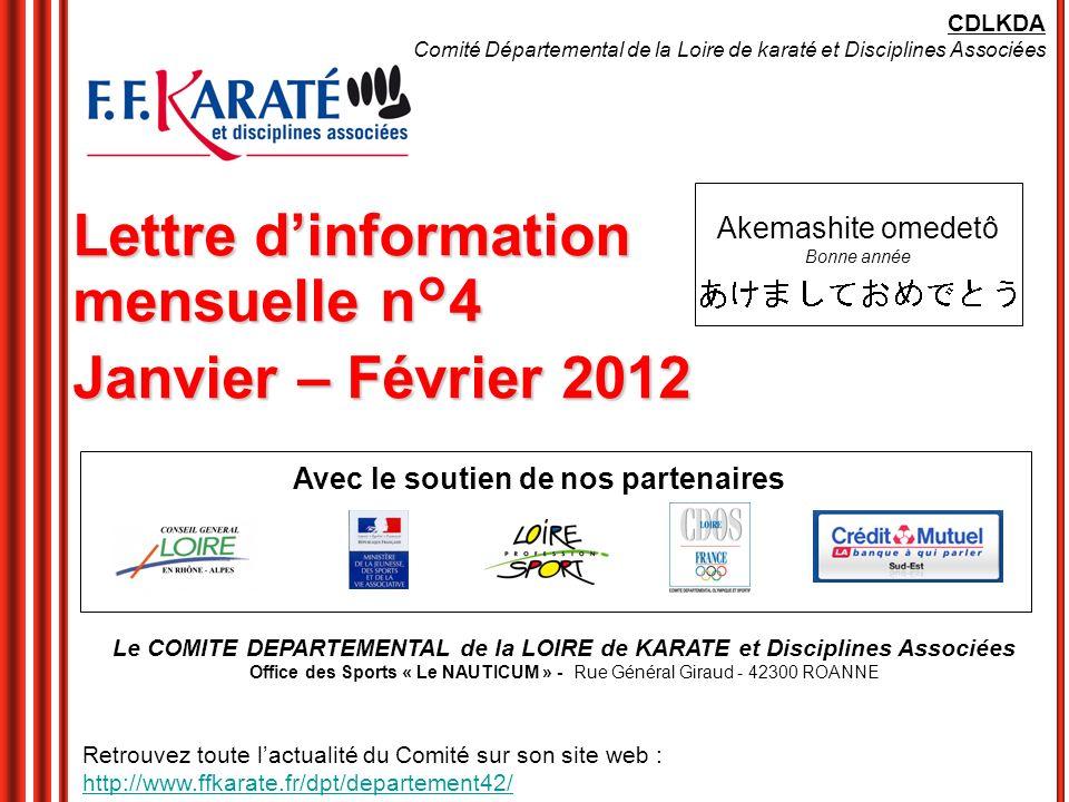 Lettre d'information mensuelle n°4 Janvier – Février 2012
