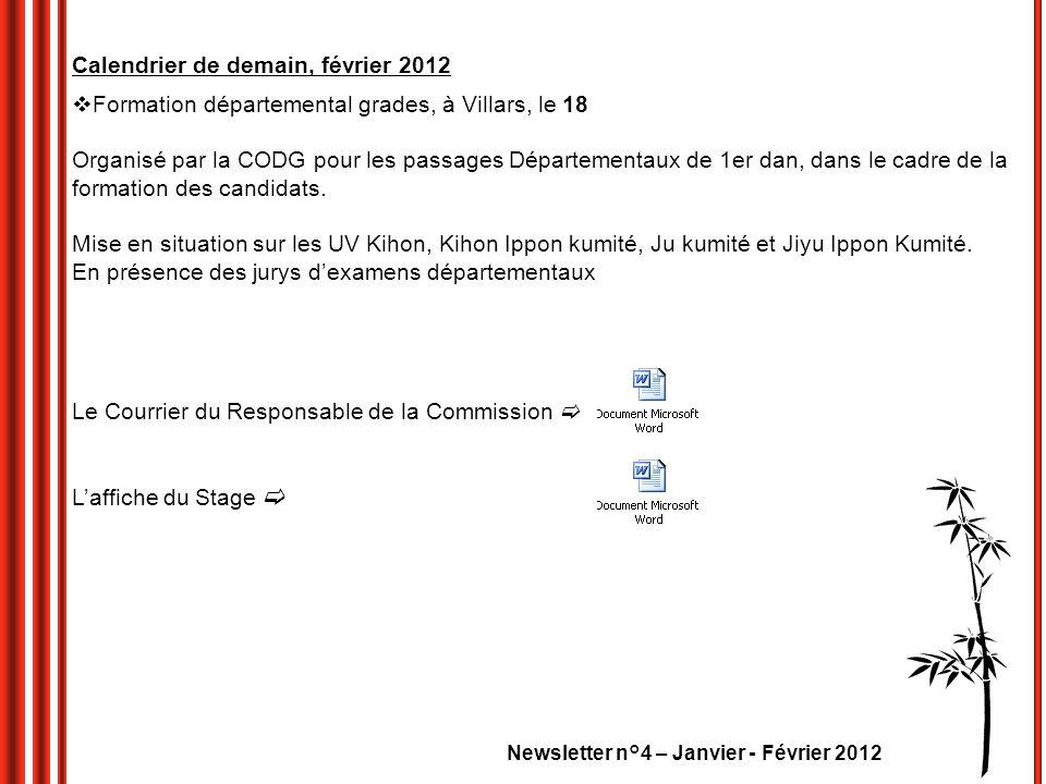 Calendrier de demain, février 2012