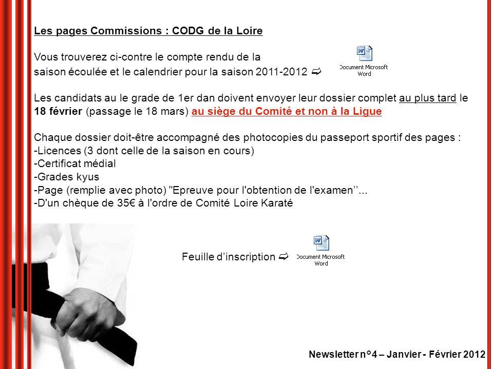 Newsletter n°4 – Janvier - Février 2012