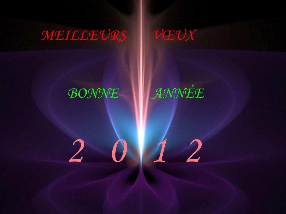 MEILLEURS VŒUX BONNE ANNÉE 2 0 1 2
