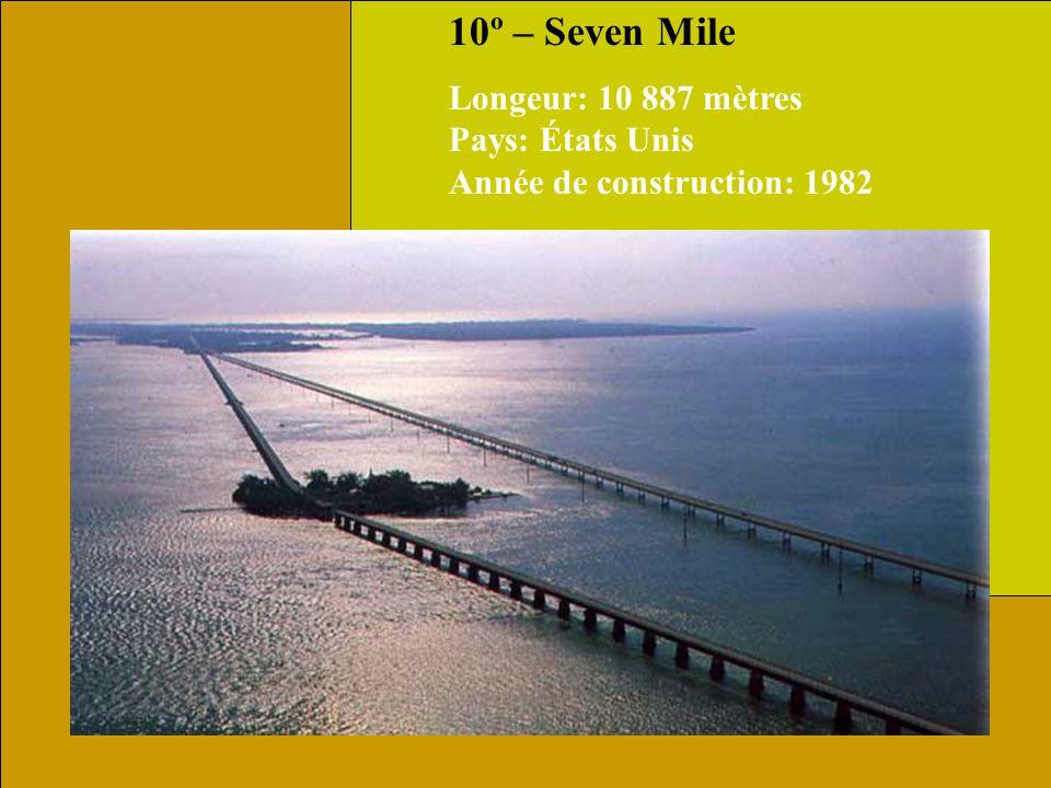 10º – Seven Mile Longeur: 10 887 mètres Pays: États Unis Année de construction: 1982.