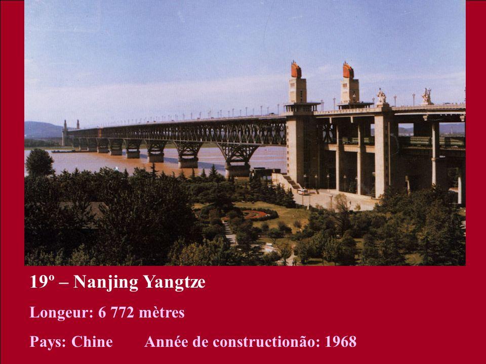 19º – Nanjing Yangtze Longeur: 6 772 mètres