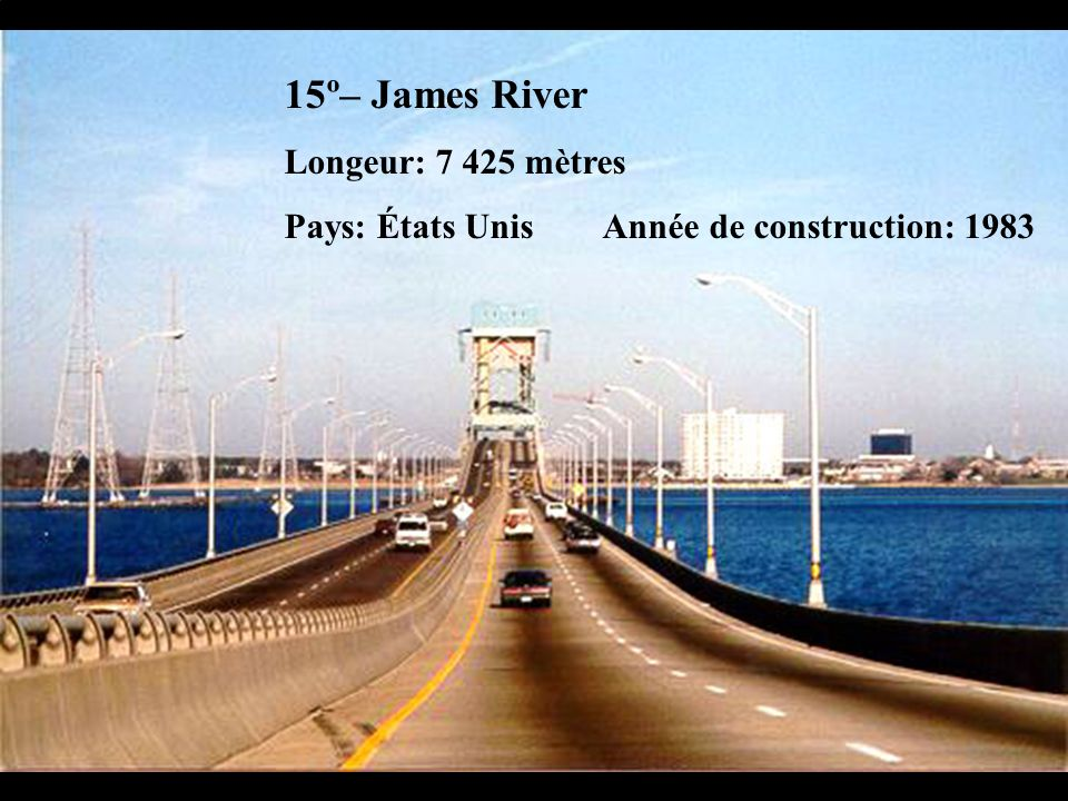 15º– James River Longeur: 7 425 mètres