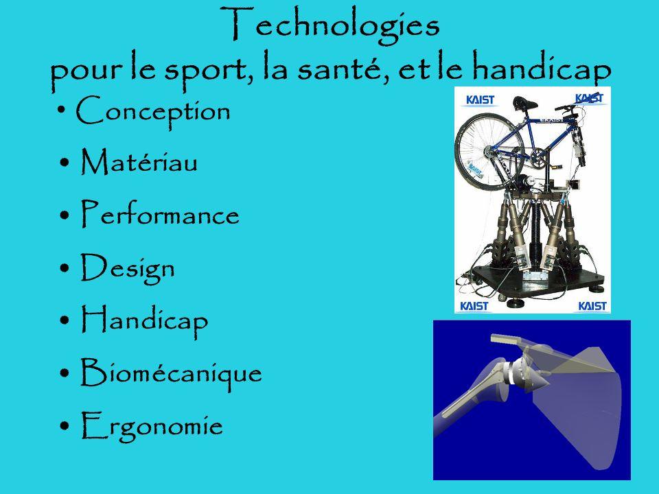 Technologies pour le sport, la santé, et le handicap
