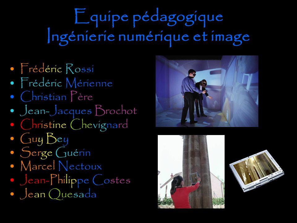 Equipe pédagogique Ingénierie numérique et image
