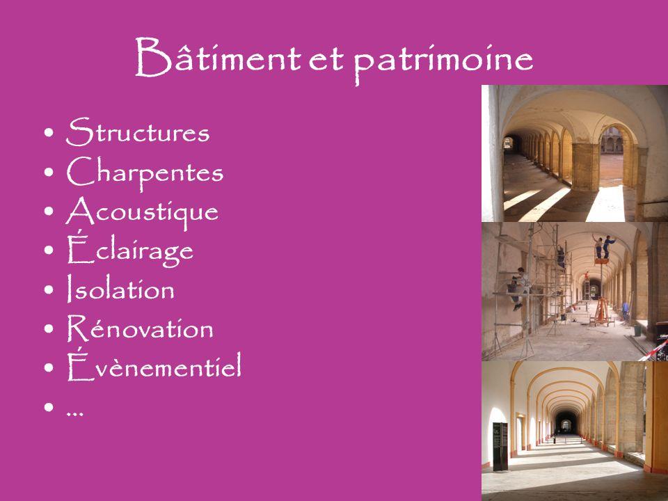 Bâtiment et patrimoine