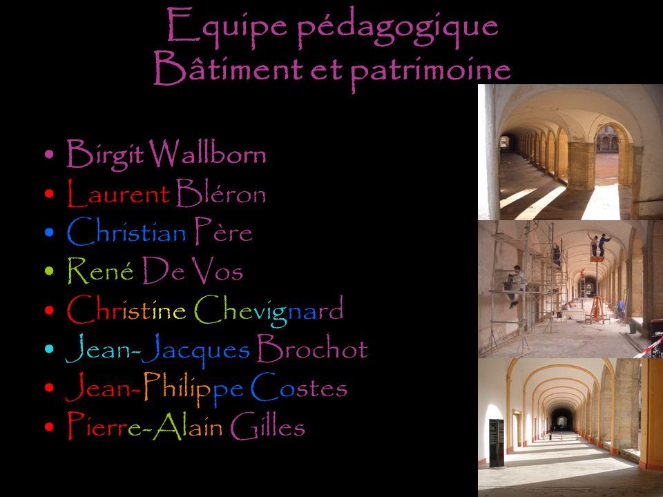 Equipe pédagogique Bâtiment et patrimoine