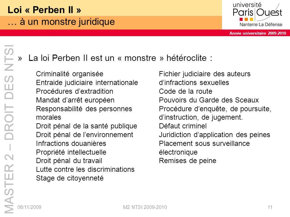 Loi « Perben II » … à un monstre juridique