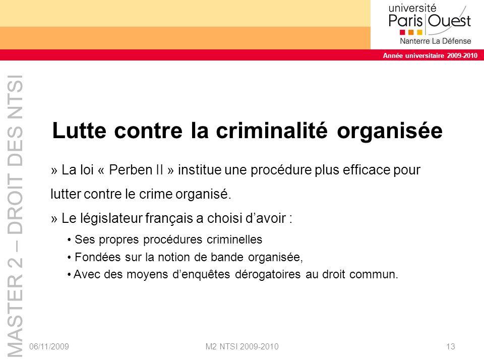 Lutte contre la criminalité organisée