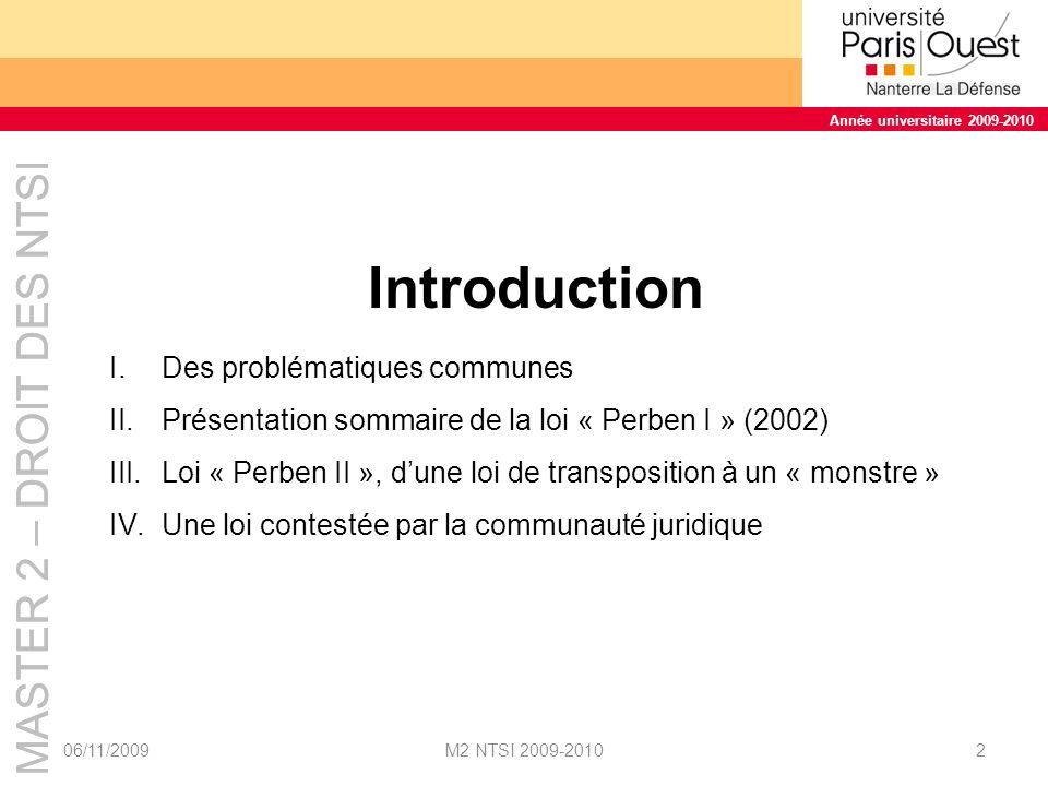 Introduction Des problématiques communes
