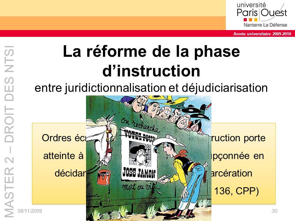 La réforme de la phase d'instruction entre juridictionnalisation et déjudiciarisation des mandats