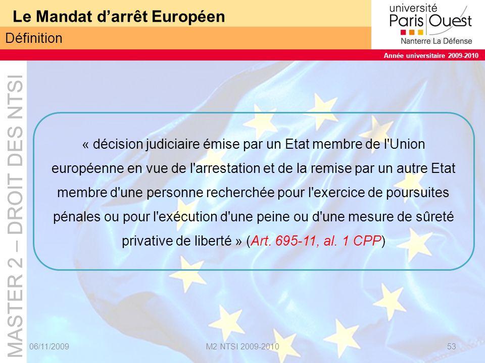 Le Mandat d'arrêt Européen