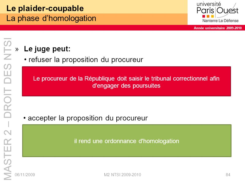 Le plaider-coupable La phase d'homologation