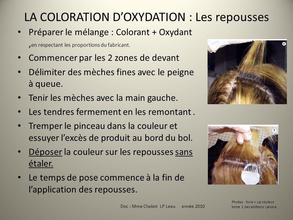 LA COLORATION D'OXYDATION : Les repousses