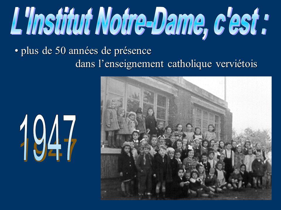 L Institut Notre-Dame, c est :
