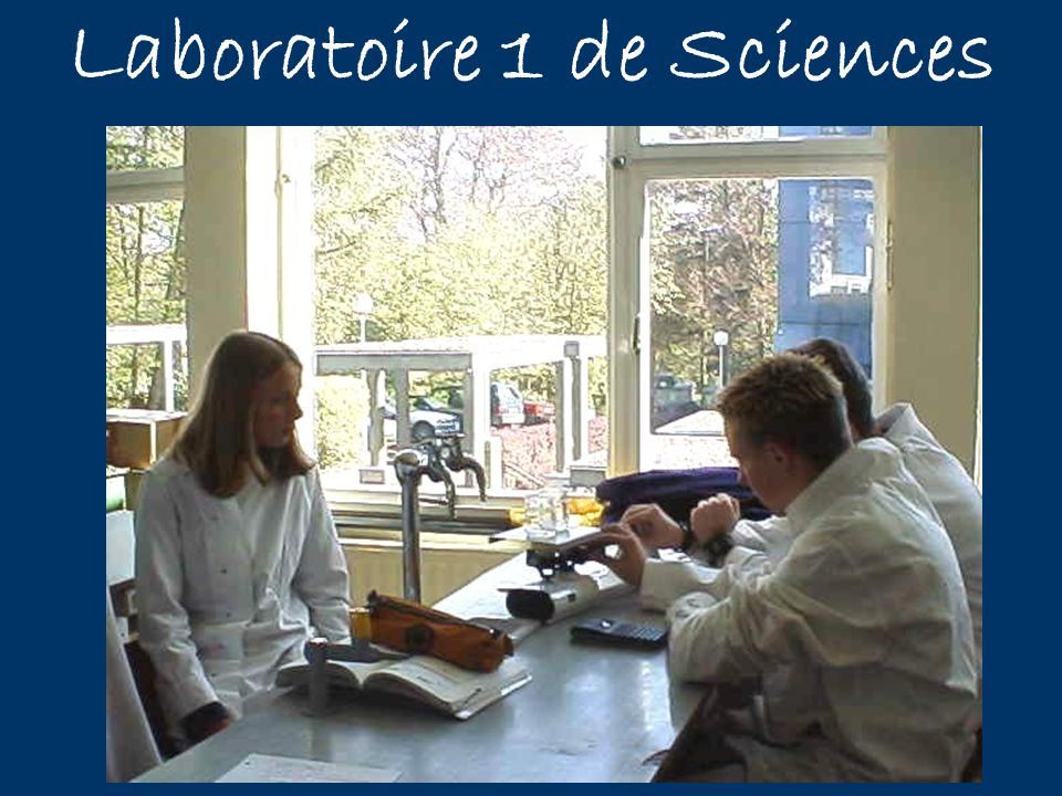 Laboratoire 1 de Sciences