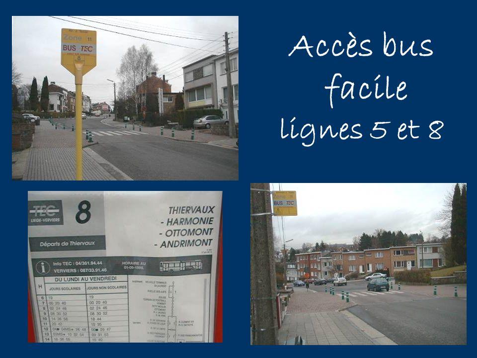 Accès bus facile lignes 5 et 8