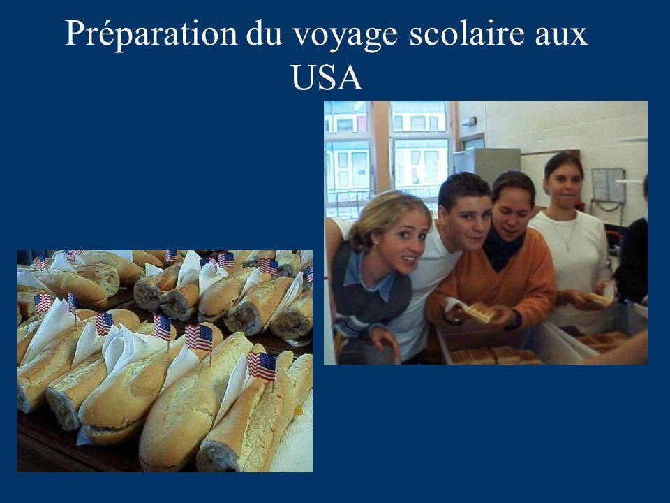 Préparation du voyage scolaire aux USA