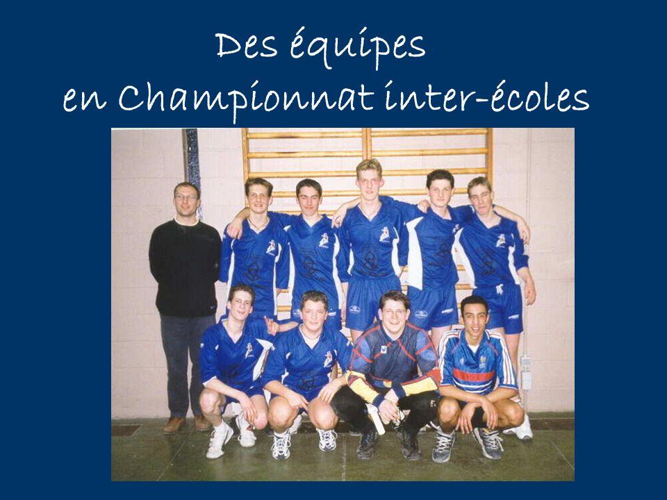 Des équipes en Championnat inter-écoles