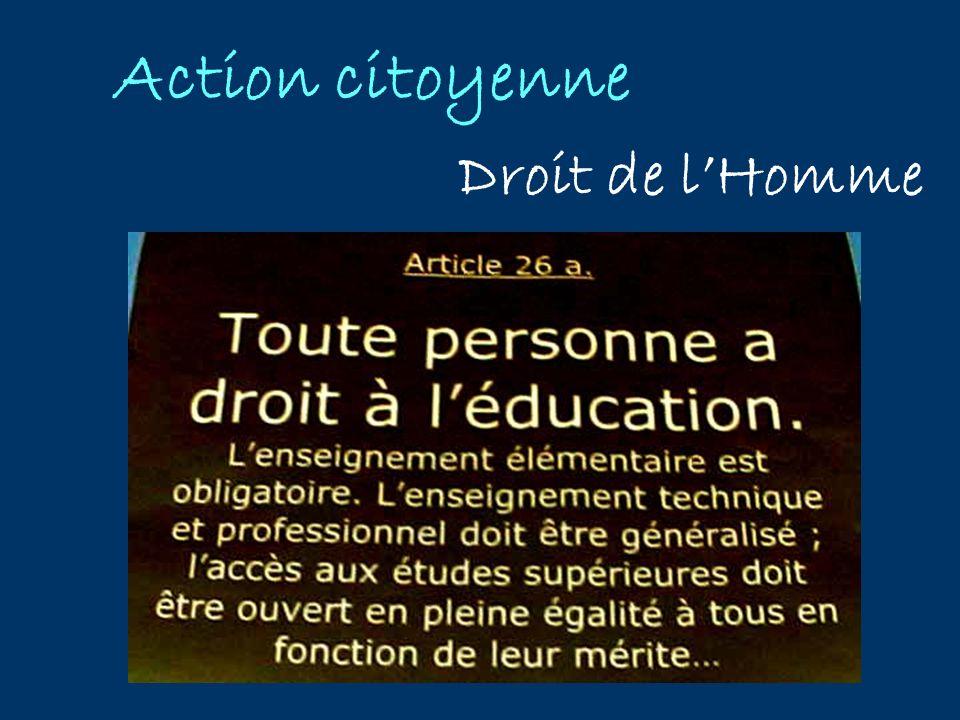 Action citoyenne Droit de l'Homme