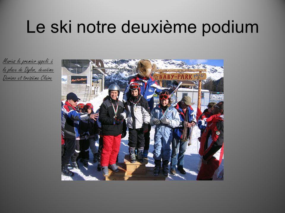 Le ski notre deuxième podium
