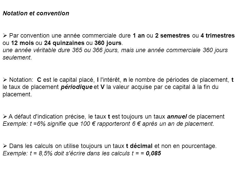 Notation et convention