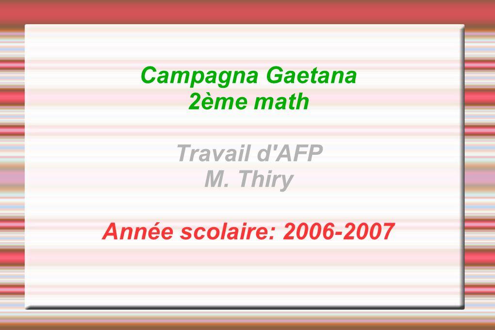 Campagna Gaetana 2ème math Travail d AFP M