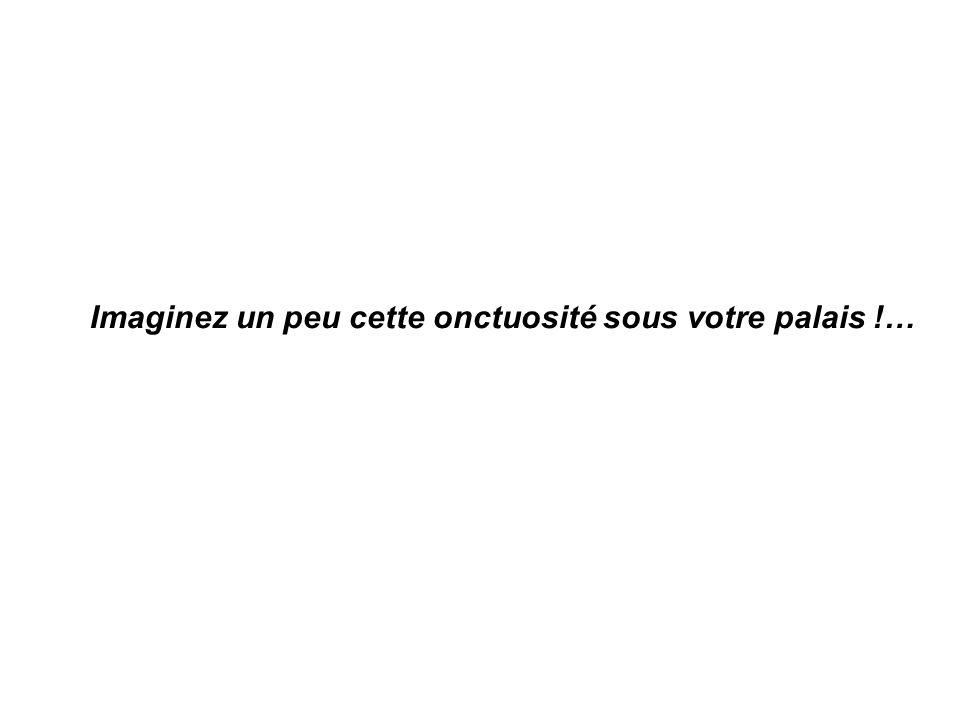 Imaginez un peu cette onctuosité sous votre palais !…