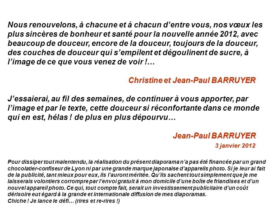 Christine et Jean-Paul BARRUYER
