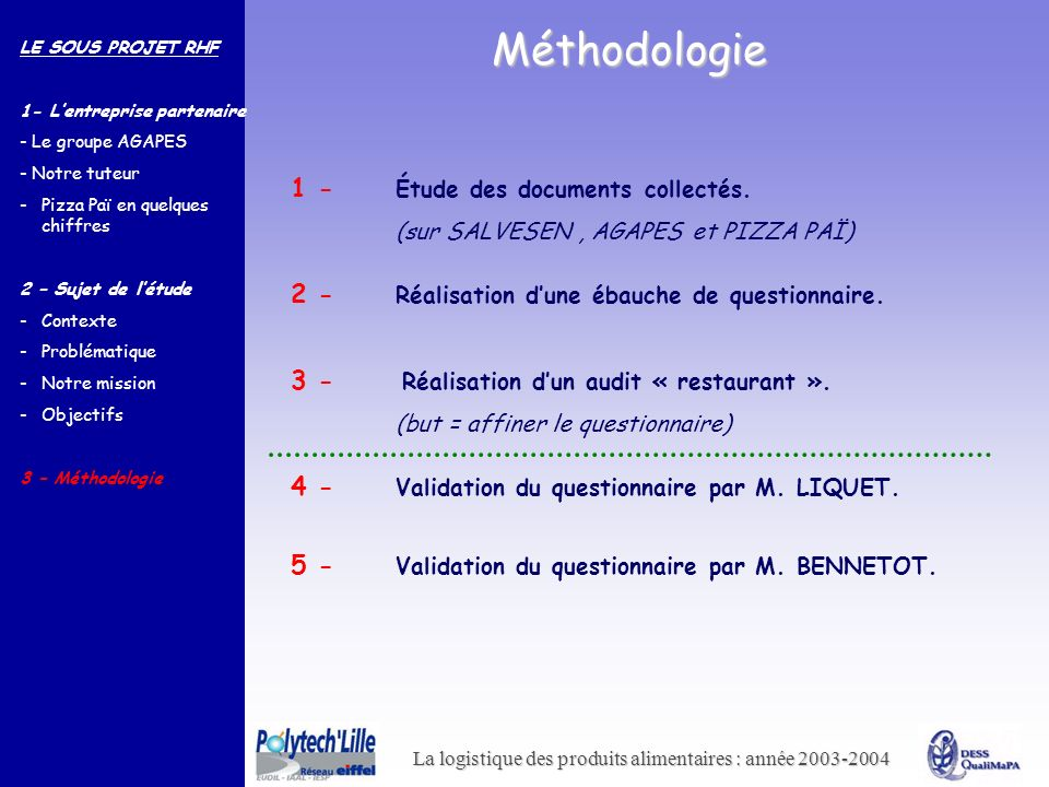 Méthodologie 1 - Étude des documents collectés.