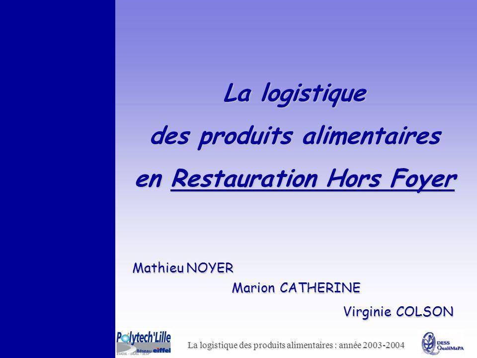 des produits alimentaires en Restauration Hors Foyer