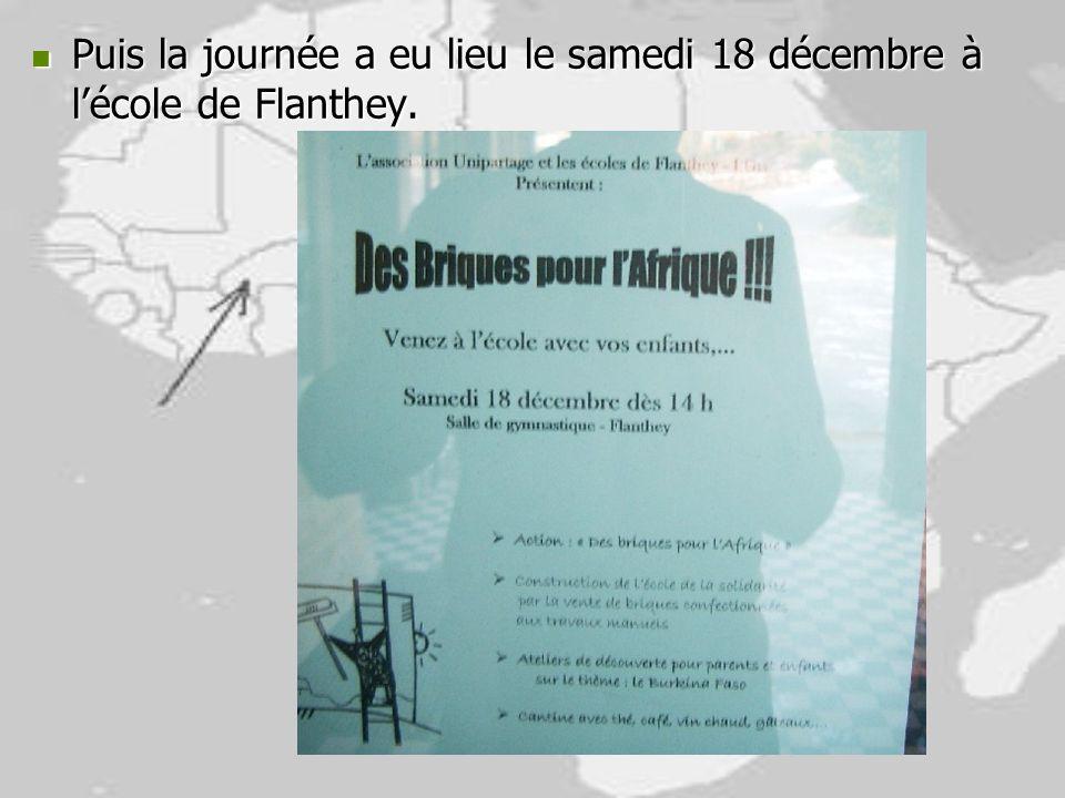 Puis la journée a eu lieu le samedi 18 décembre à l'école de Flanthey.