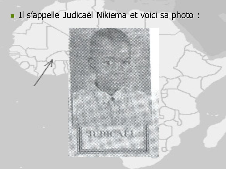 Il s'appelle Judicaël Nikiema et voici sa photo :