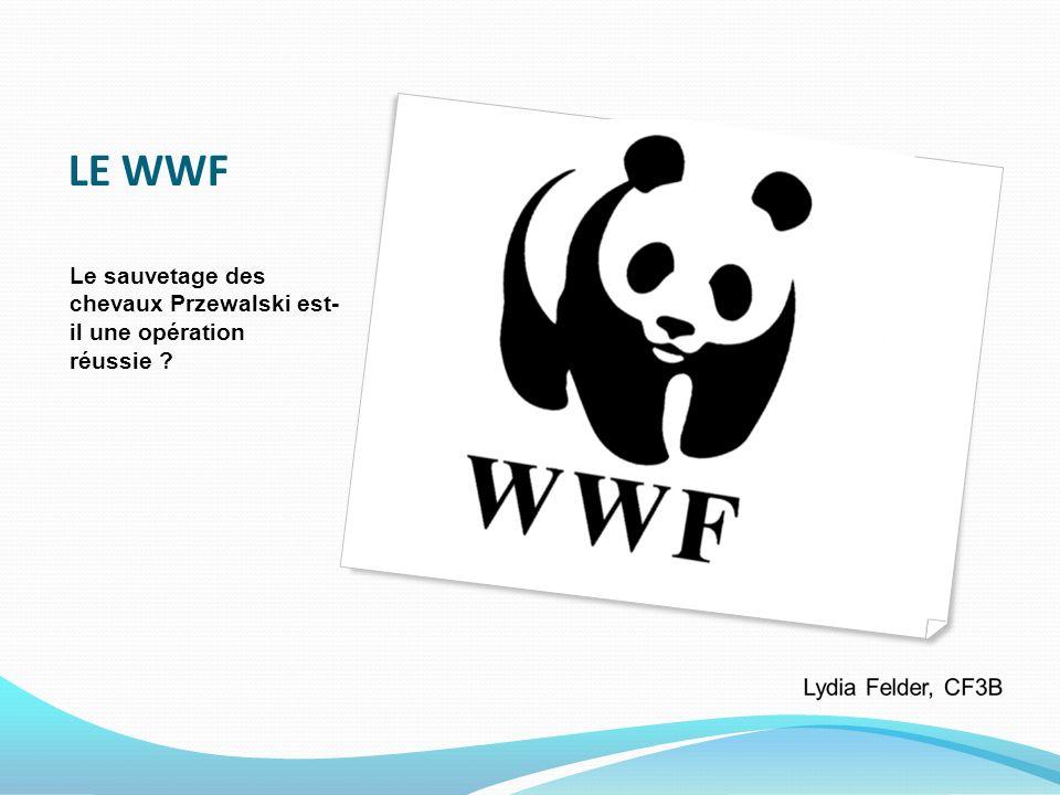LE WWF Le sauvetage des chevaux Przewalski est- il une opération réussie