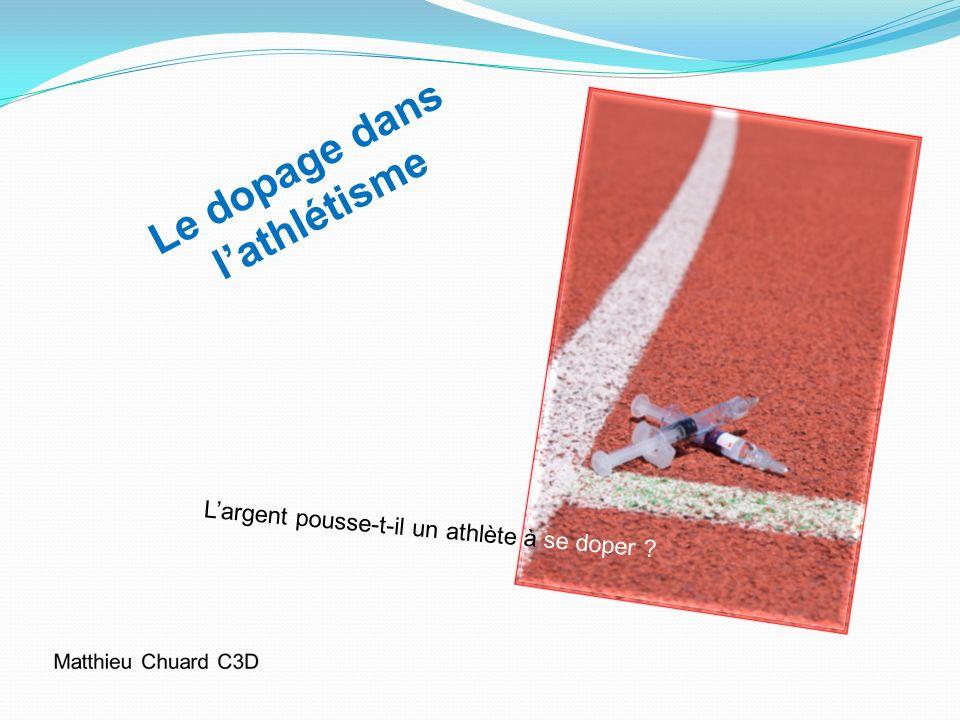 Le dopage dans l'athlétisme