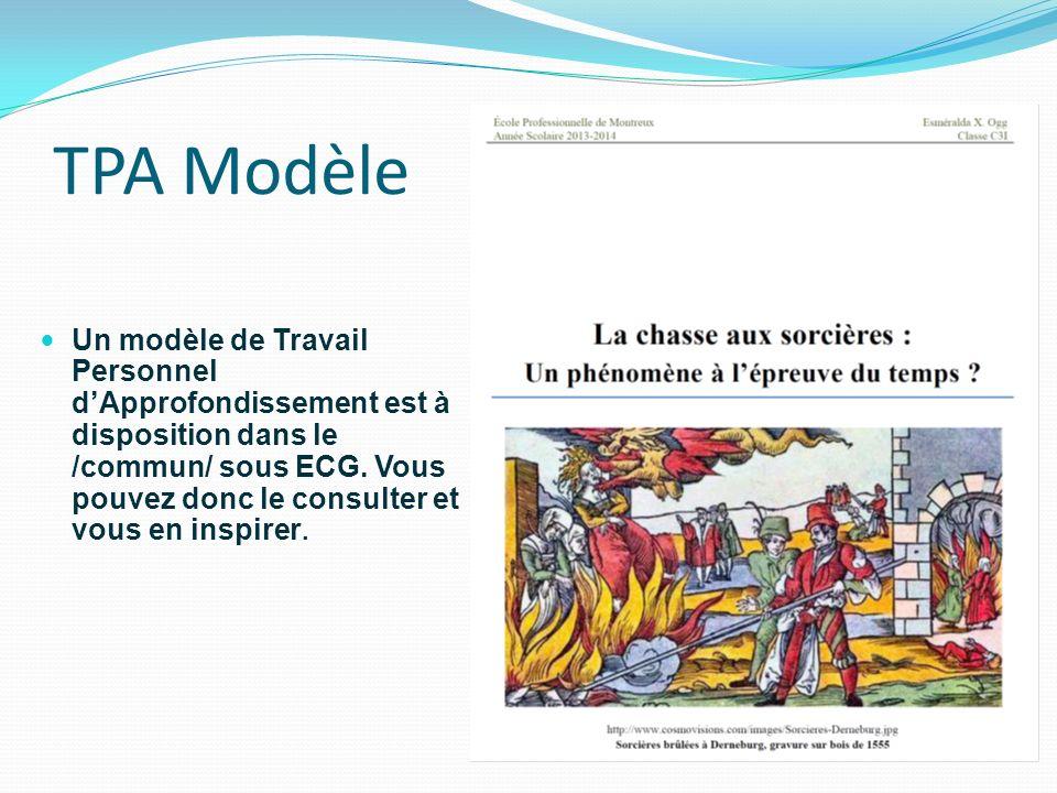 TPA Modèle
