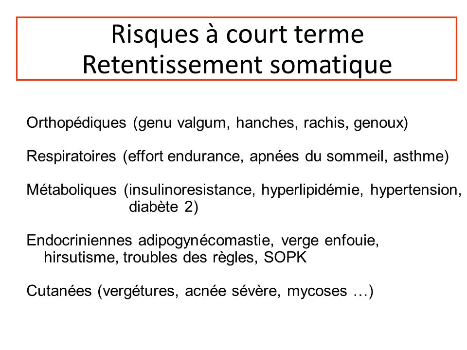 Retentissement somatique